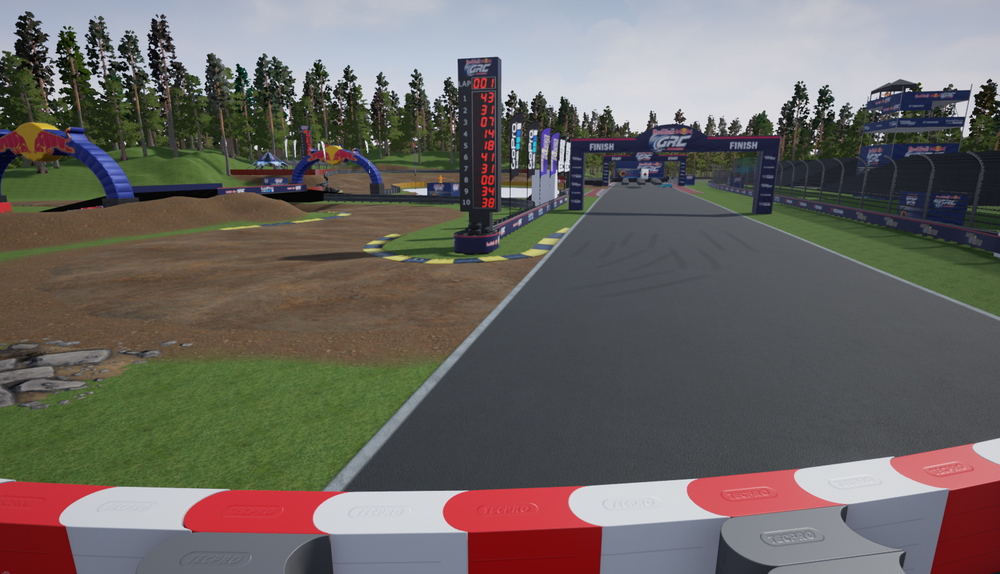 Start/finish straight leading to hairpin