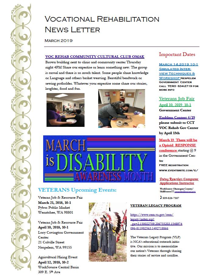 March 2019 Newsletter