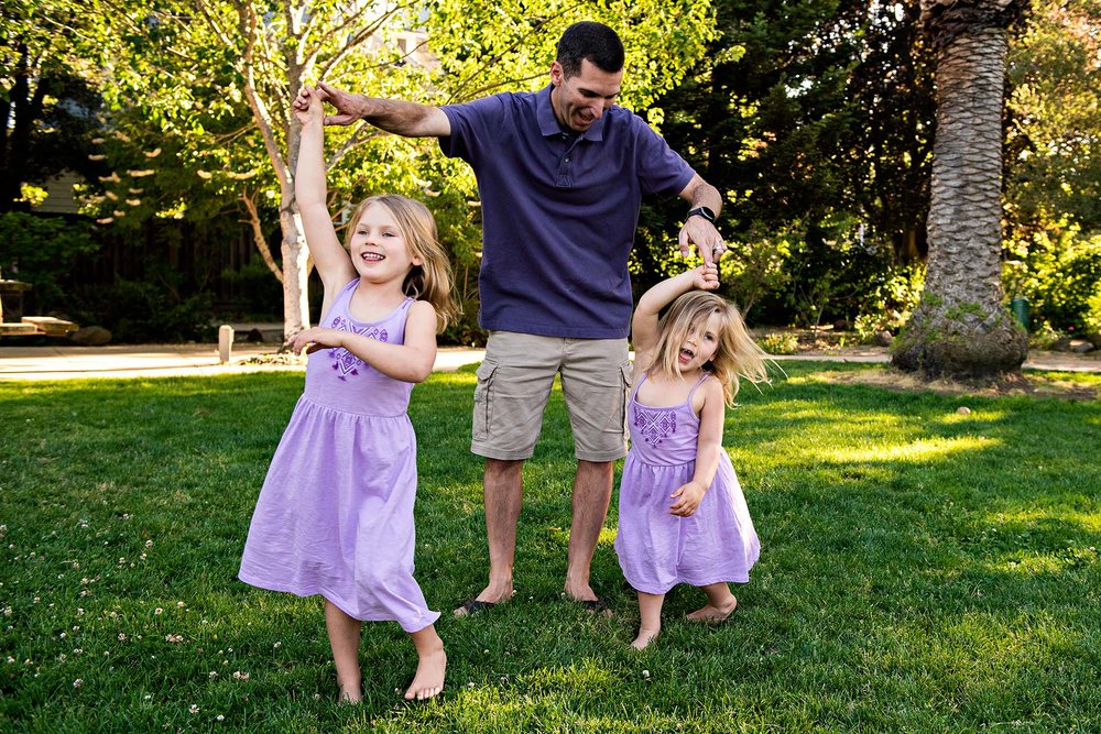 sharon kenney family photography mountain view dancing dad daughters