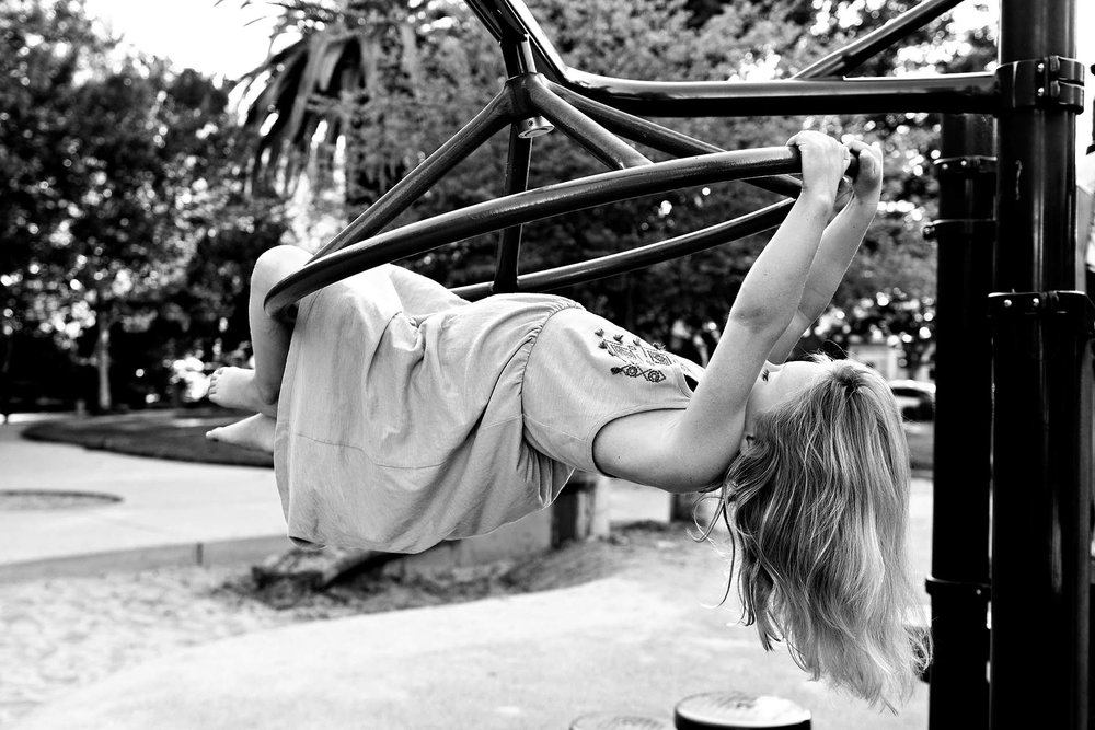 sharon kenney family photography mountain view playground park girl