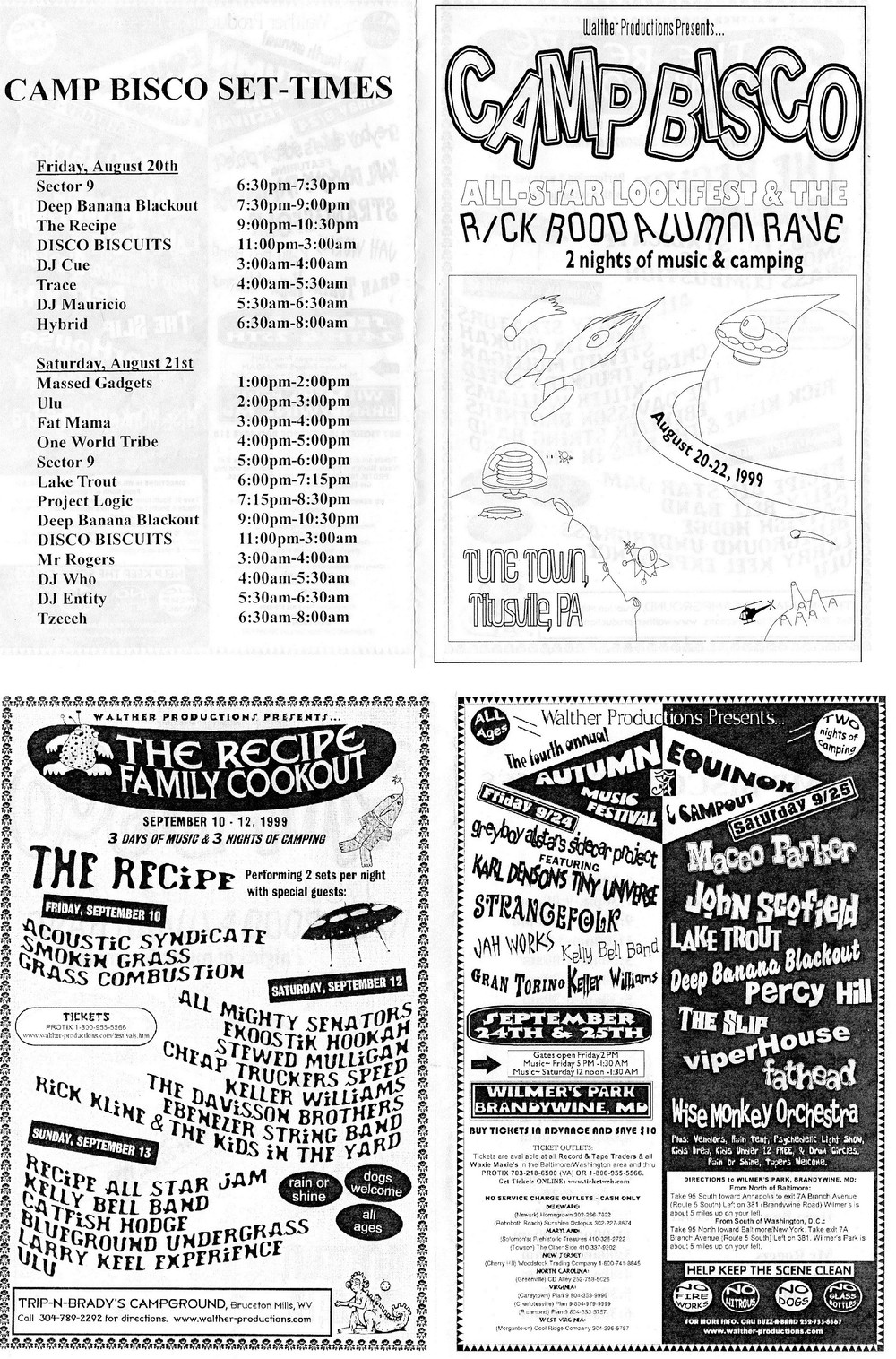 A Flyer for the first Camp Bisco that happened in Titusvile, Pennsylvania.