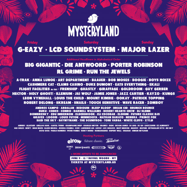 Mysteryland's now defunct lineup for 2017. Sounds like it would have been awesome.