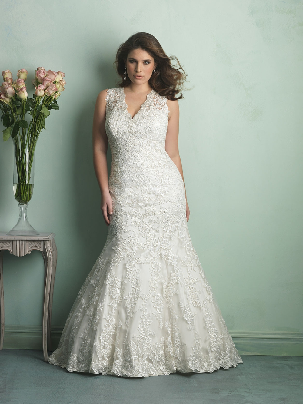 Here's just one of our beautiful plus size wedding gowns that will be on sample sale!