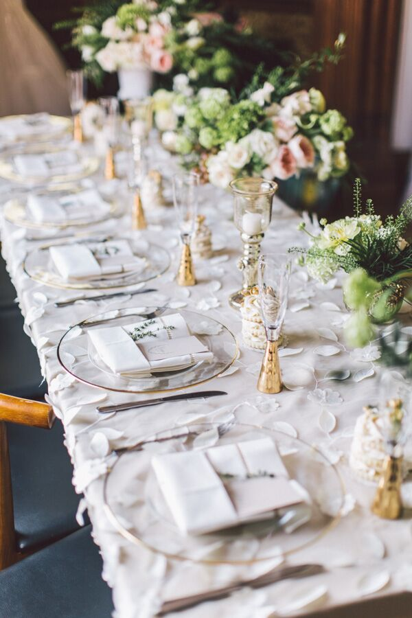 Beautiful olive green, gold and white decor