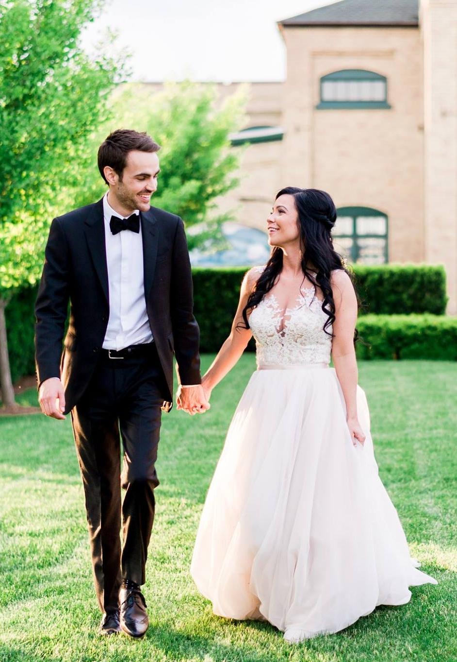 #ferrebride Jacqueline wearing Allure Bridals