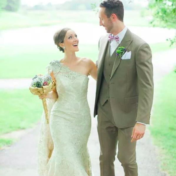 #ferrebride Kristen wearing a Farage Bride gown