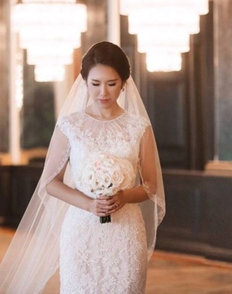 #ferrebride Diane wearing Allure Bridals