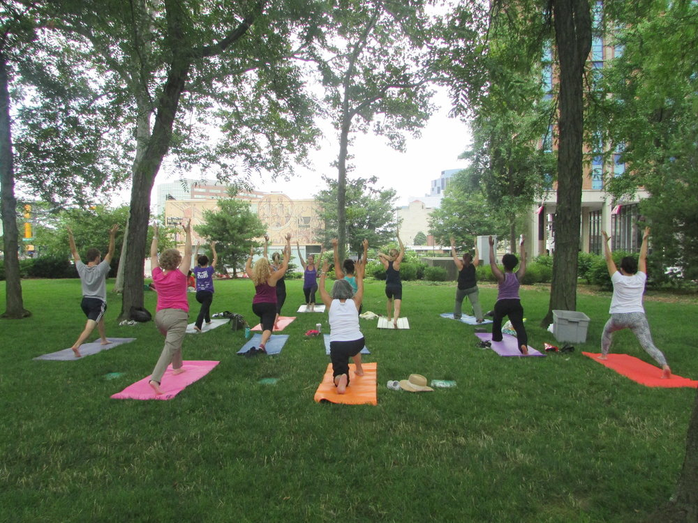 Yoga with Newark Yoga Movement in Military Park