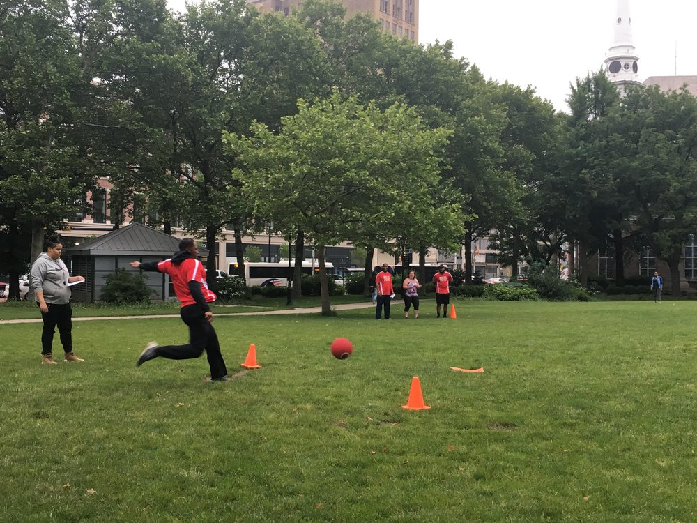 Adult Kickball League Military Park and Riverfront Park
