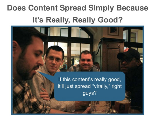Does good content spread