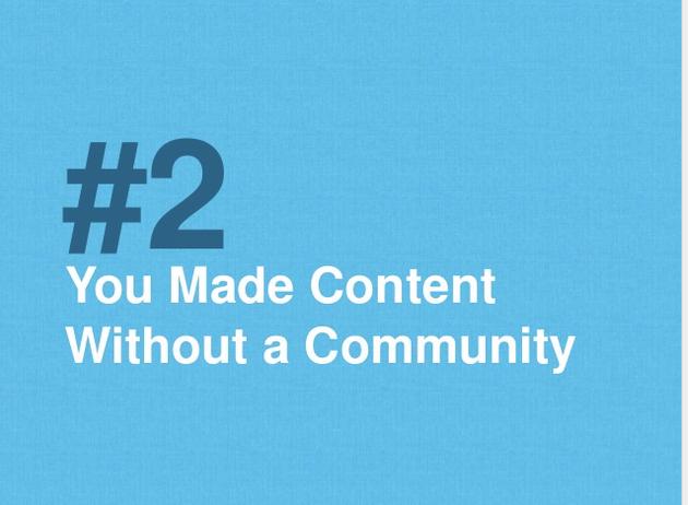 content fails without community