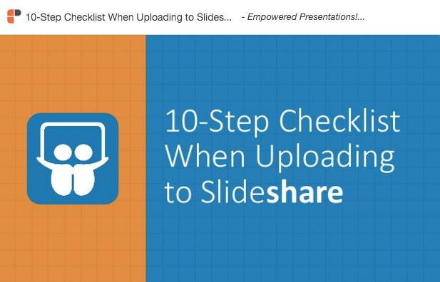 Slideshare Checklist