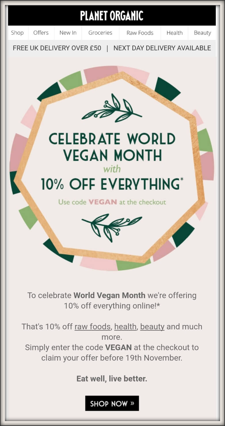 Planet Organic email message.png