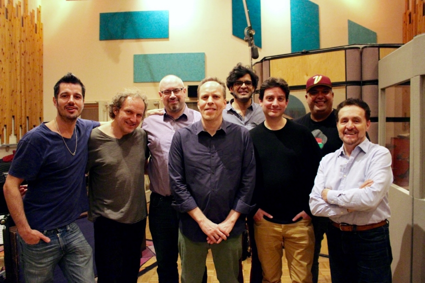 Melting Pot (L to R): Ehren Hanson,Hans Glawischnig, Bryan Davis, Dave Anderson, Neel Murgai, Dave Restivo, Roberto Quintero, Memo Acevedo