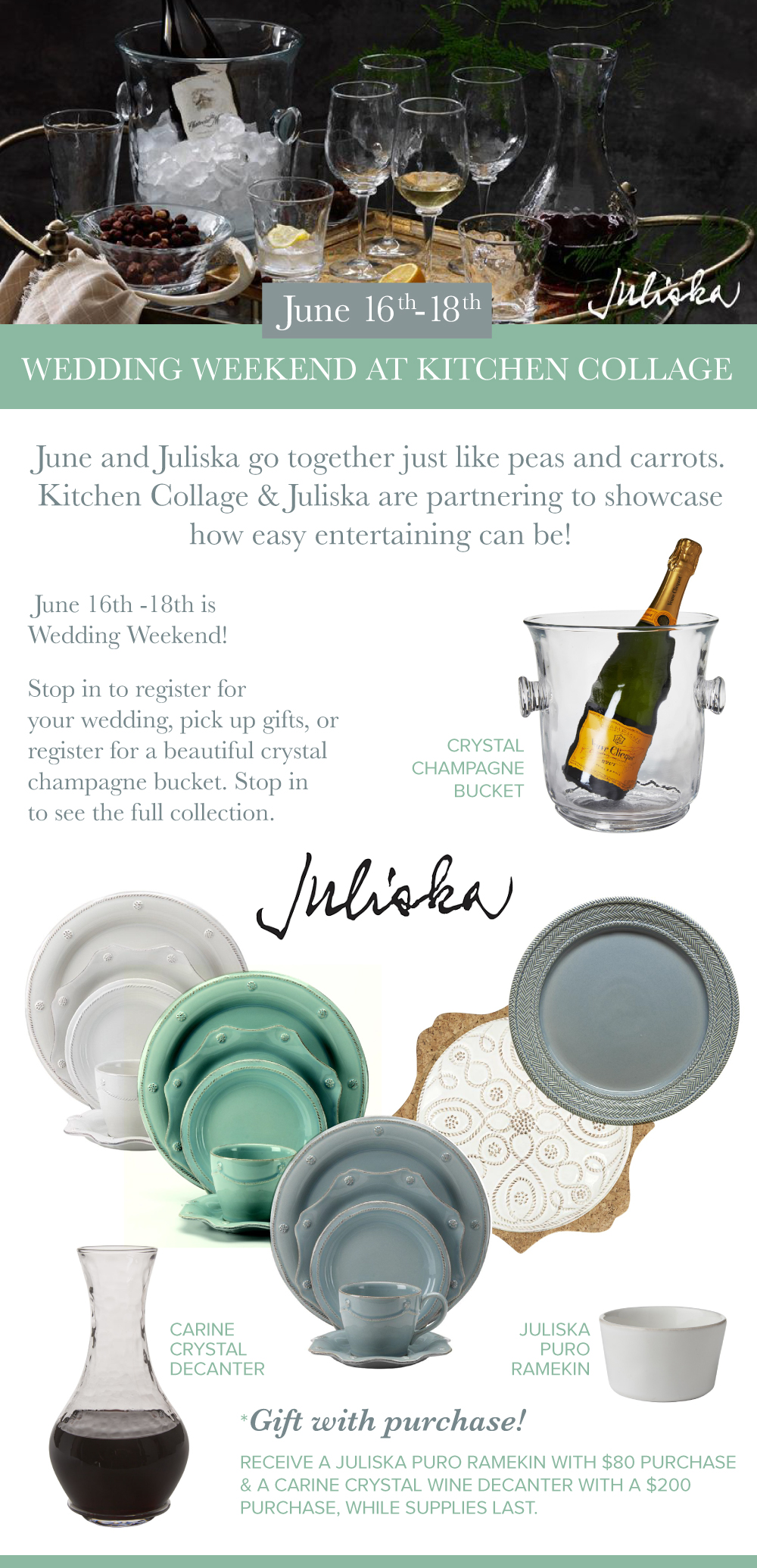 Juliska Showcase and Wedding Weekend