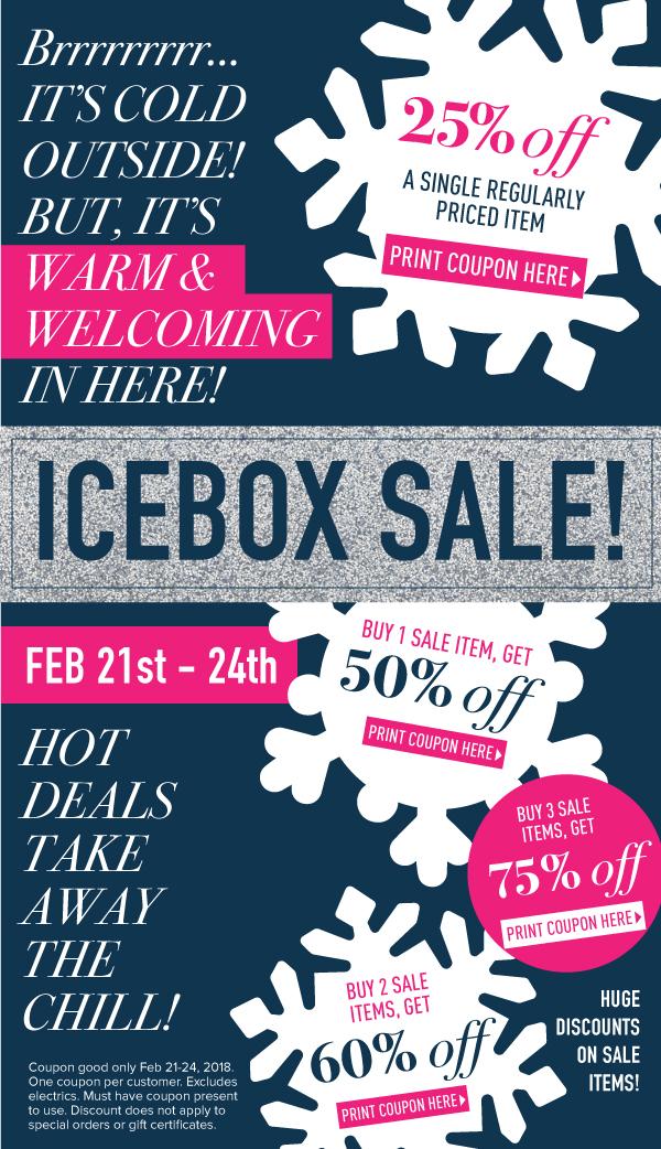 Icebox Sale