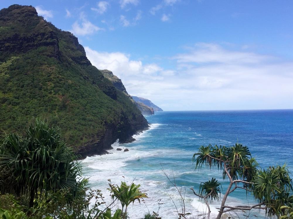 Kalalau trail on the Napali coast