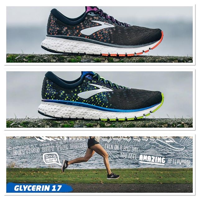 """""""So comfortable, I never think about them. That's the highest compliment I can give."""" Des Linden, 2018 Boston Marathon Champion.  The Glycerin 17 NOW available at all InStep locations👍  #welovecushion #runhappy #glycerin17 #instep #springishere #brooks"""