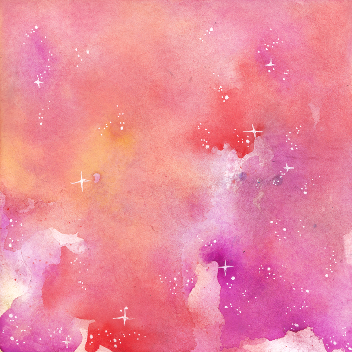 Pink and Orange Galaxy
