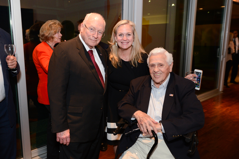 Vice President Dick Cheney, Alison McIntosh, and Dan Cook at a fundraiser for Cheney for Wyoming in February 2016.