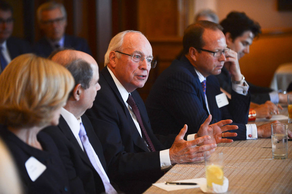 Vice President Dick Cheney speaks at a roundtable in 2013.