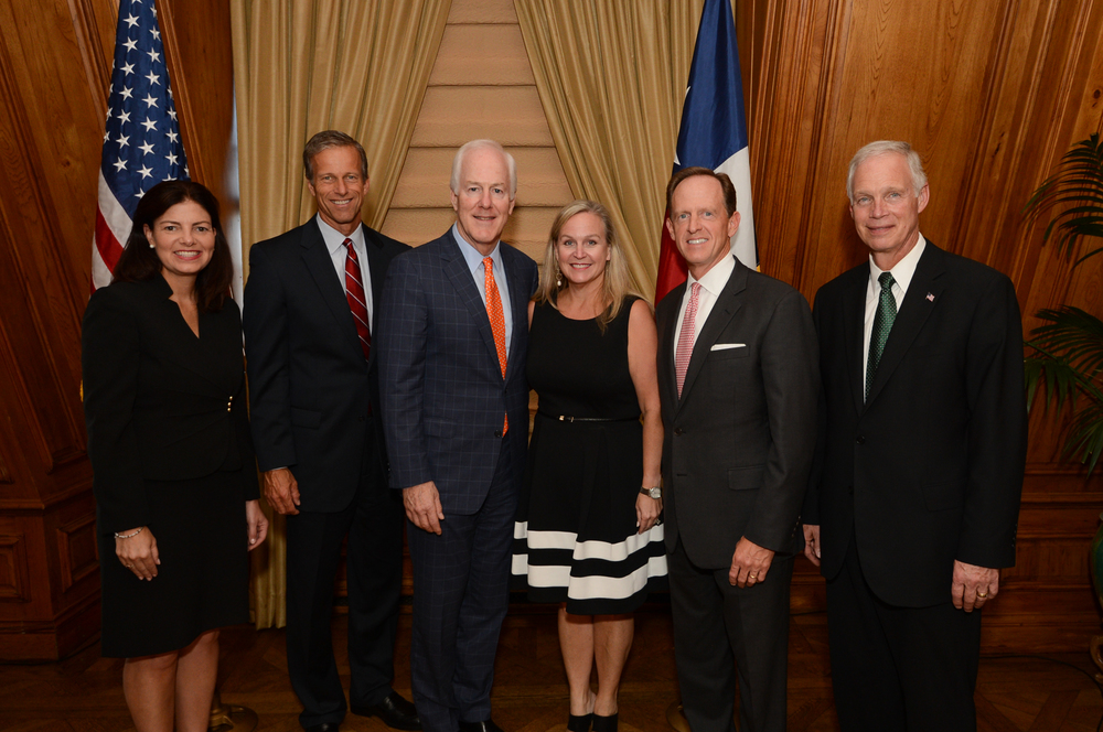 Senators Kelly Ayotte, John Thune, John Cornyn, Pat Toomey, and Ron Johnson at a Legacy Reception at The Dallas Crescent Club in September 2015.