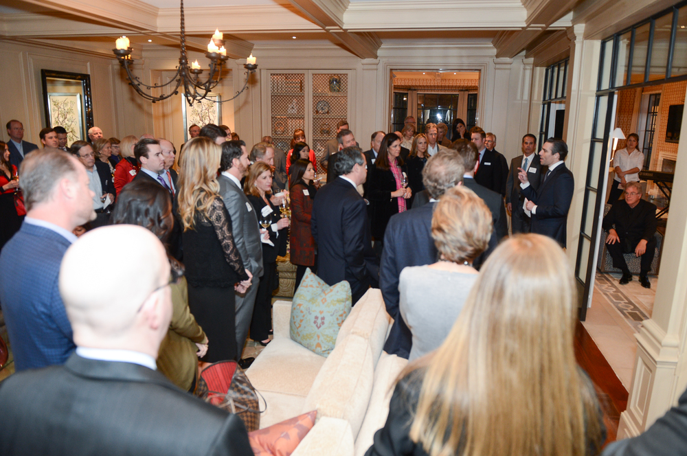 State Representative Morgan Meyer (HD-108) speaks to a crowded room of North Texas supporters in January 2016.