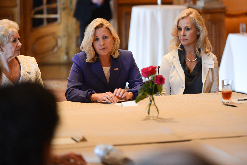 Liz Cheney speaks at an RNC roundtable in 2013.