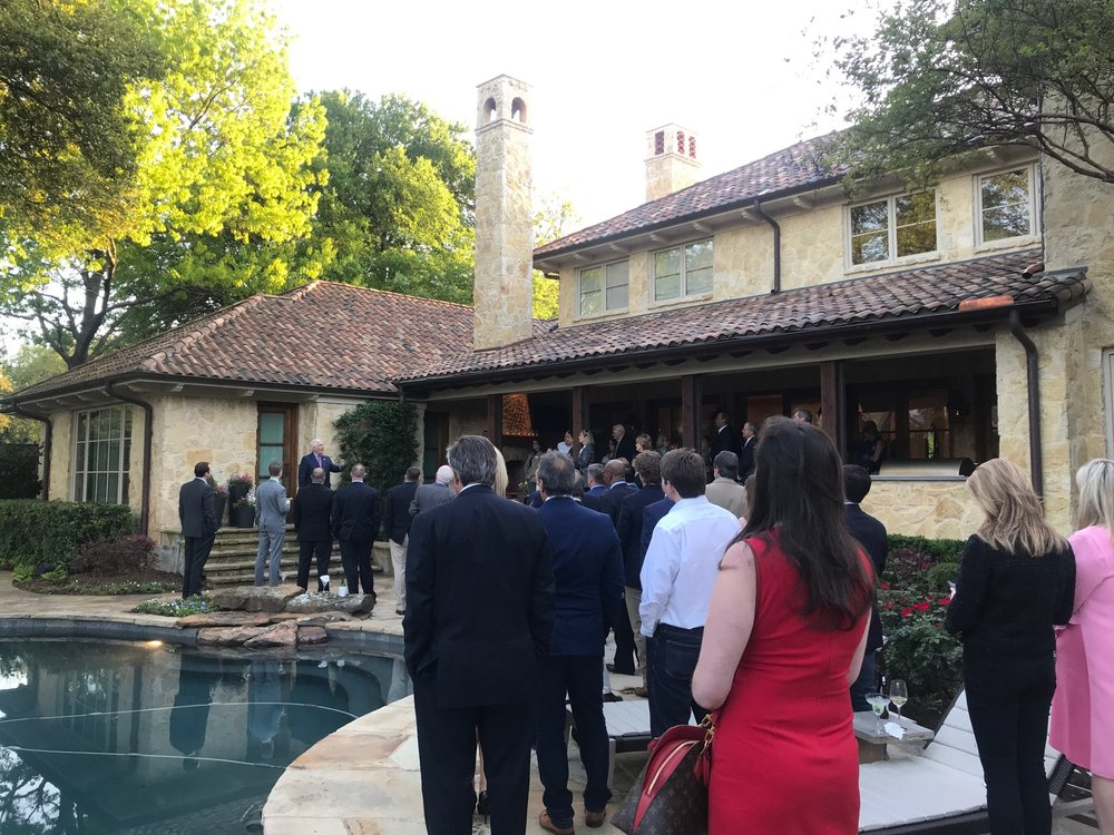 Fundraising reception in Dallas for Congressman Pete Sessions on April 4, 2018.