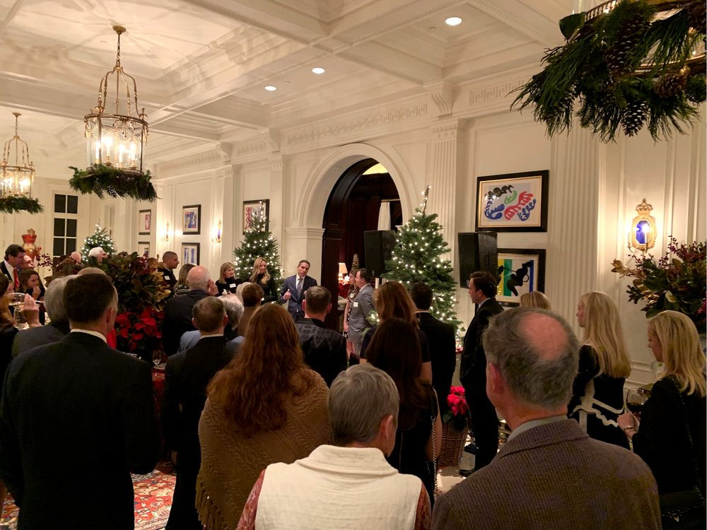 Texas State Representative Morgan Meyer's annual holiday reception in Dallas on December 6, 2018.