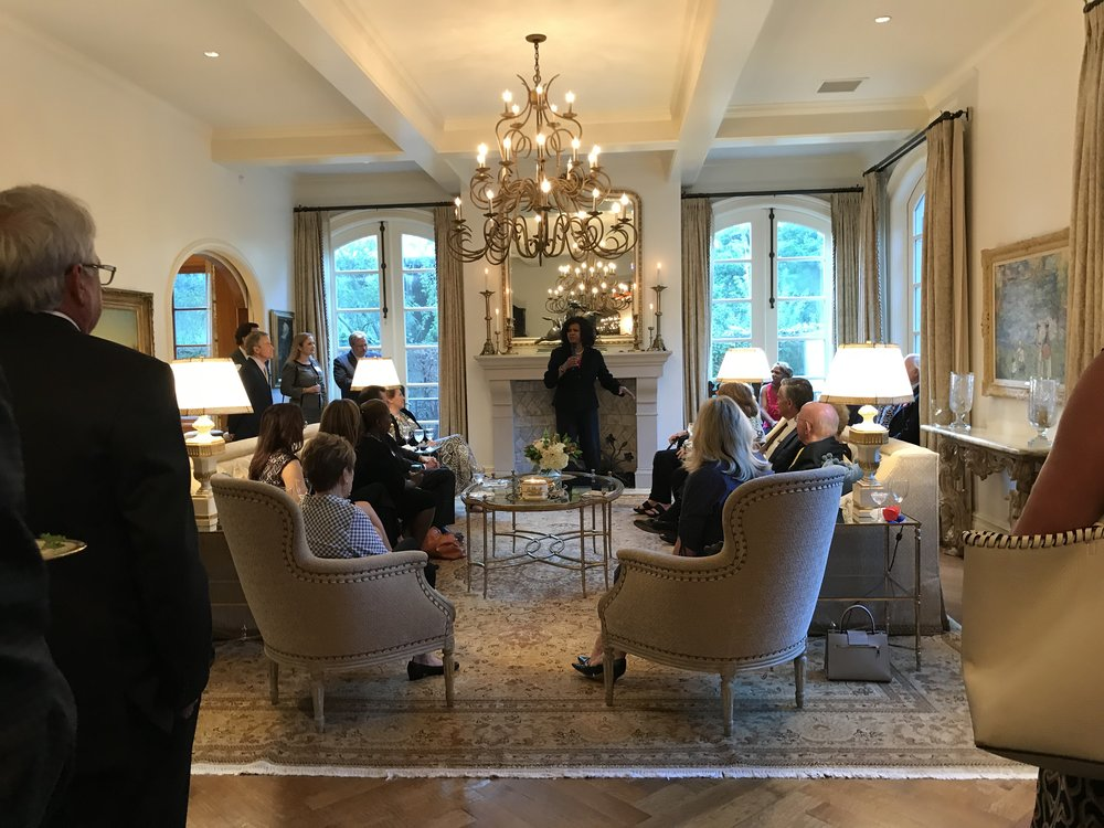 Dallas District Attorney Faith Johnson speaks at a reception on September 18, 2018.