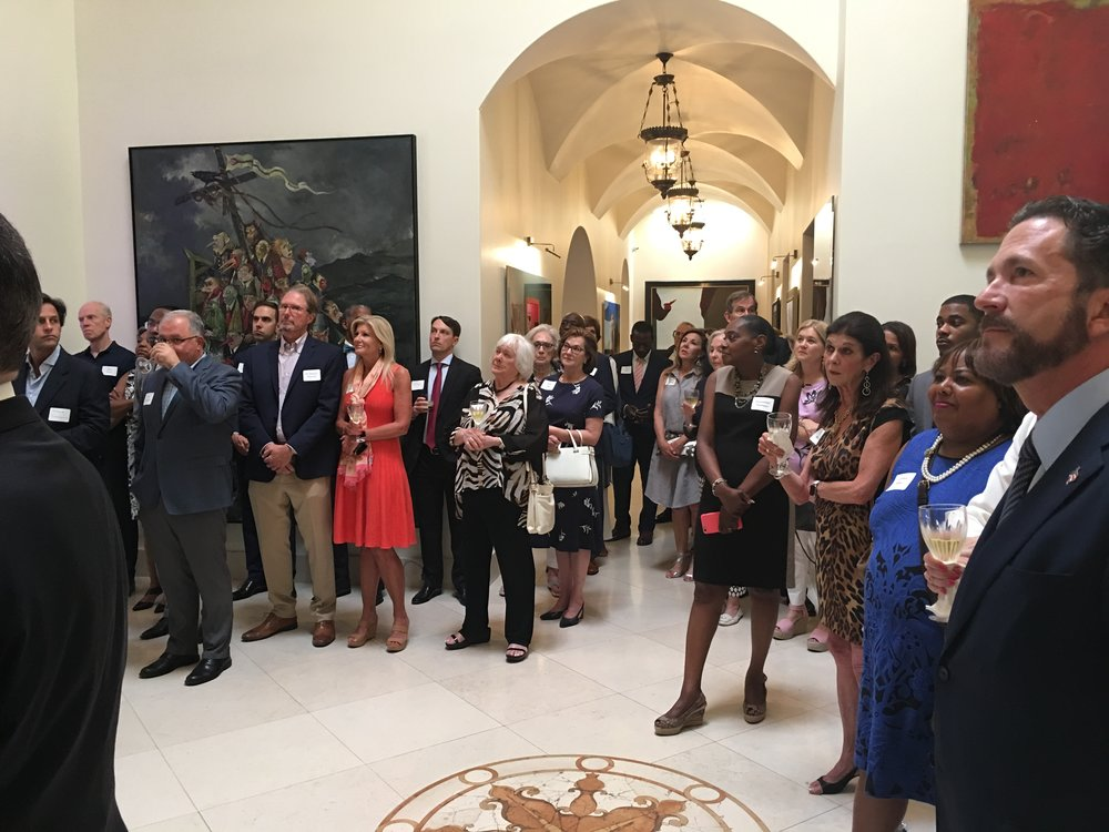 Reception for Dallas District Attorney Faith Johnson on June 26, 2018.