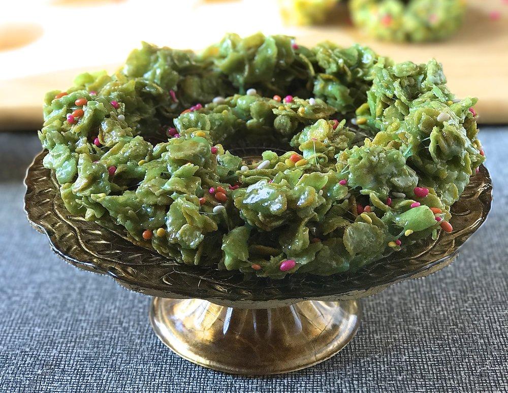 Cornflake Wreath
