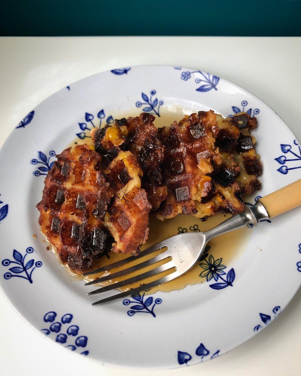 cornbread pudding waffles