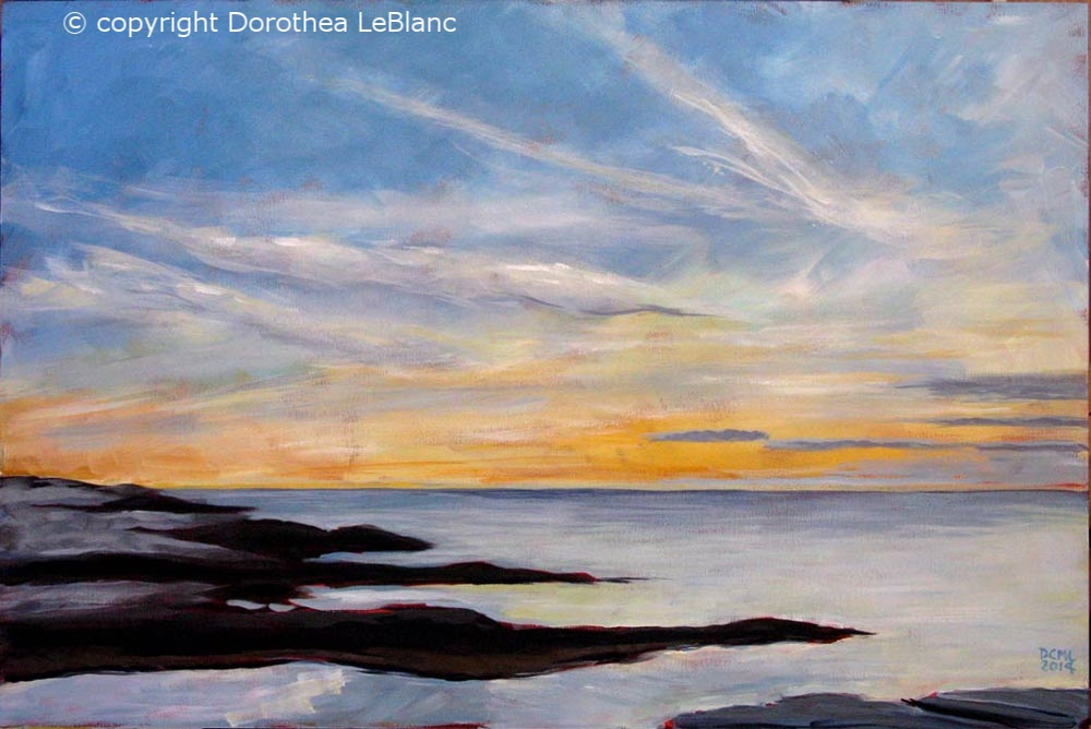 Peggy's Cove Evening - donated for a good cause