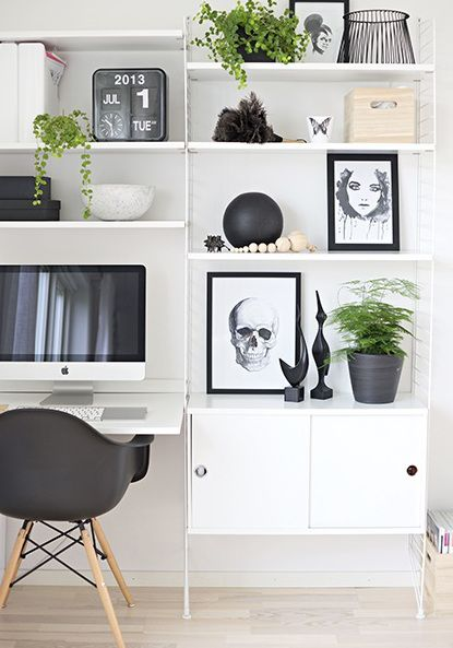 26 home office designs that will increase your for Office design productivity