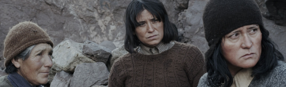 "Tuesday, February 25, 9pm LAS NIÑAS QUISPE | THE QUISPE GIRLS (Sebastián Sepúlveda, Chile/France/Argentina, 2013, 80 min. In Spanish with English subtitles). Winner - Best First Film ""In the remote, almost primeval world of a nearly isolated Chilean mountainscape in 1974, three goat-herding sisters survive, somewhat rootlessly after the death of a fourth sister. Pinochet's rise to power is a distant echo, and the new dictator's edict against herding threatens their meager livelihood. The aging matriarch, Justa, is suspicious of the clothing salesman who visits occasionally; the youngest sister, Luciana, holds on to her romantic desires. Using a mix of actors (including Catalina Saavedra from The Maid) and non-actors, including Digna Quispe, the real sisters' niece, this mesmerizing film, based on a true and tragic story, tells an intimate tale against a stark yet magnificent landscape. The film premiered at the Venice Film Festival as part of Critics' Week."" – First Look"