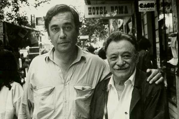 Eliseo Subiela (left) with Uruguayan writer Mario Benedetti