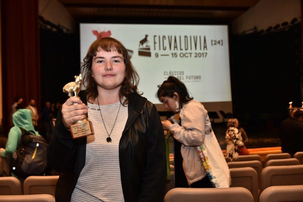 Brazilian director Juliana Antunes (photo by the Valdivia Film Festival)