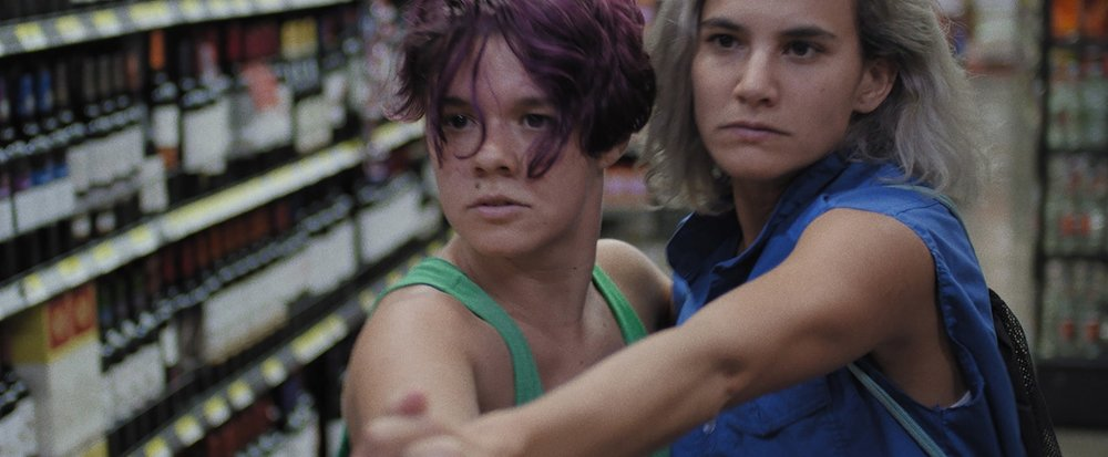 LIGHTNING FALLS BEHIND  ( Atrás hay relámpagos , Julio Hernández Cordón, Costa Rica/Mexico, 2017, 82 min. In Spanish with English subtitles. New York Premiere)  Q&A with actress/producer Adriana Álvarez   Buy Tickets   The sixth film by Mexican-Guatemalan filmmaker Julio Hernández Cordón ( I Promise You Anarchy , ND/NF 2016), and his first shot in Costa Rica, is a rakish slacker movie that follows rebellious girls Sole (Adriana Alvarez) and Ana (Natalia Arias). While biking around San José, and planning to create a vintage cab company, they find something inside the trunk of a car that they'd rather forget.  Lightning Falls Behind , featuring playful and fluid camerawork, is a prime example of the kind of recent Central American cinema that has delighted viewers on the international film circuit.   Sunday, March 4, 4pm