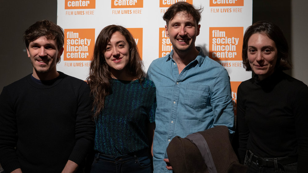 Filmmakers Eduardo 'Teddy' Williams, Camila José Donoso, Cristóbal León, and Paolo Buontempo. Photo by Juan Pedro Agurcia