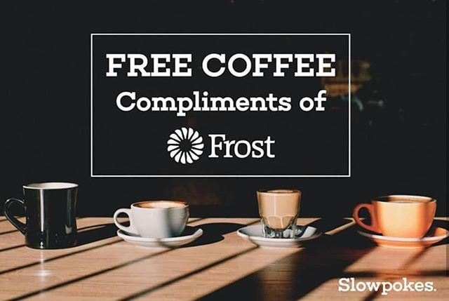 It's that time again! FREE COFFEE drinks TOMORROW, Thursday, January 17th from 7:30-9:30am compliments of @frostbank! Come enjoy any coffee/tea drink of your choice. See you tomorrow morning!  #frostbank #freecoffee #houstoncoffeeshop #coffeeshop #coffee #slowpokes #slowpokeseverywhere #slowpokes_htx #houston #local #htxlocalpeople #craft #espresso #latte #localbeer #beer #wine #HTXlocalpeople #breakfast #houstononthecheap #freebies #free  #houstonfreebies