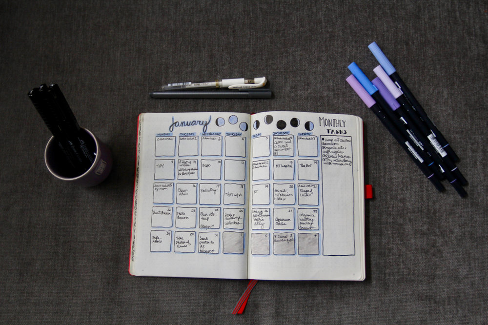 JANUARY CALENDAR + MONTHLY TASKS