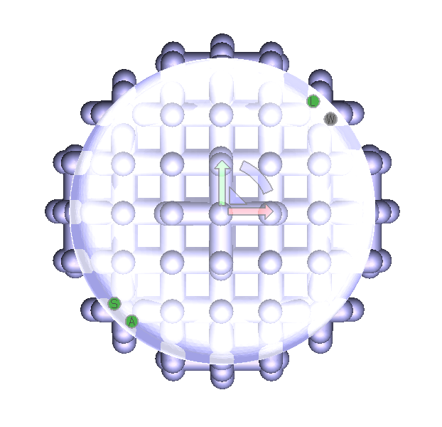 Regular lattice on input sphere model