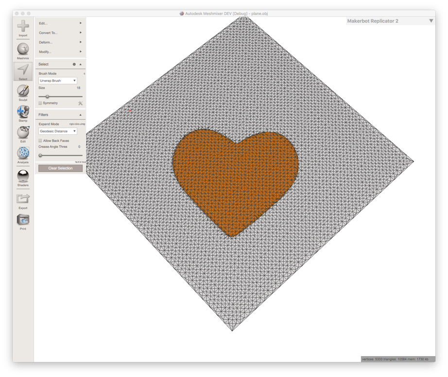 Creating a Heart Shape stamp from a selection
