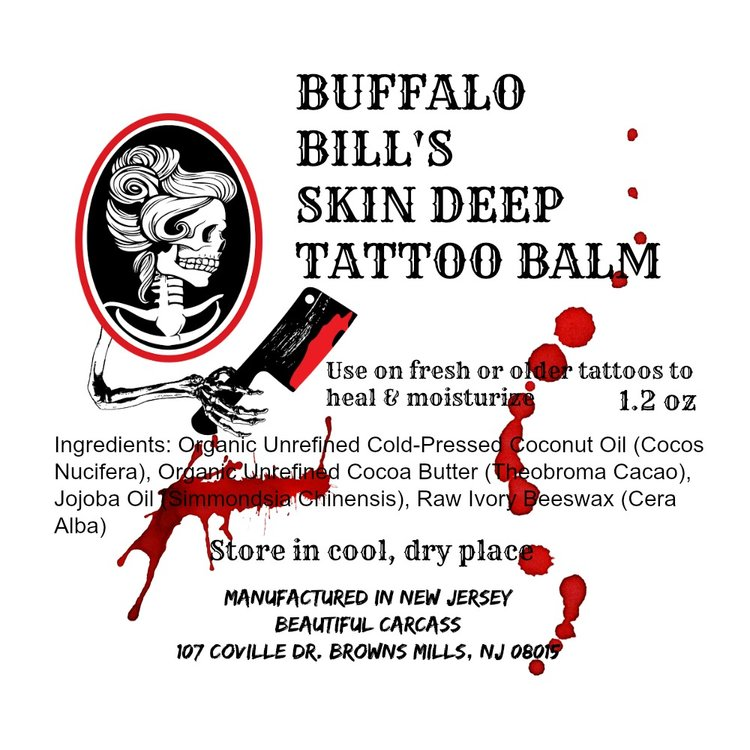 Buffalo Bills Skin Deep Tattoo Balm Beautiful Carcass
