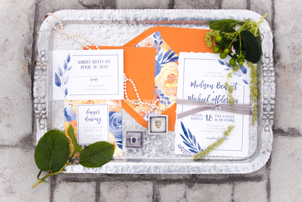 Invitation Suite by  Paper Hearts Invitations  | Photograph by  Britani Edwards Photography