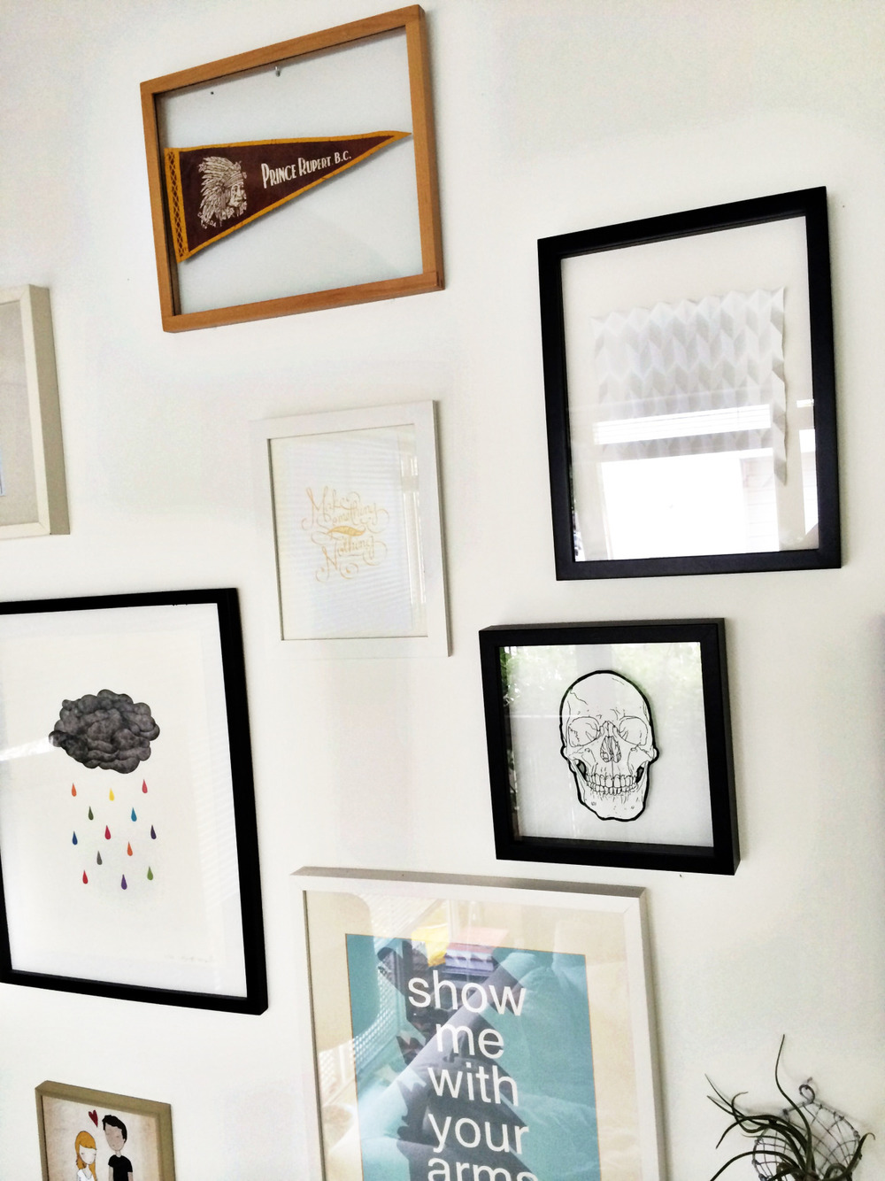 Your walls are still yours.  Hang what you love and switch it up often. In a small space you don't have a lot of ability to change your furniture or even easily rearrange but your art is an easy change and away from curious chubby fingers.