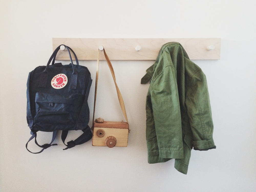 Backpack: Fjallraven Camera: lovingly made by Grandpa Jacket: Jcrew  Crewcuts