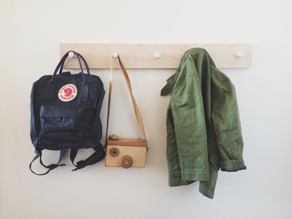 Backpack: Fjallraven Camera: lovingly made by Grandpa Jacket: Jcrew  Crewcuts